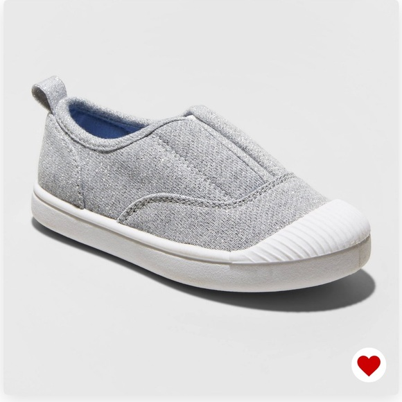 Cat & Jack Other - NWT Cat & Jack Girls Archer Grey Slip On Sneakers